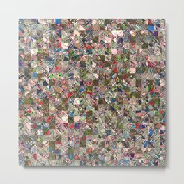 Colorful Quilt Pattern Metal Print