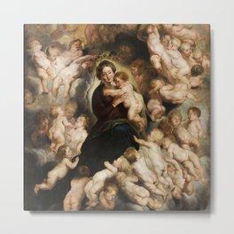 Peter Paul Rubens, Mary with Angel Wreath Metal Print