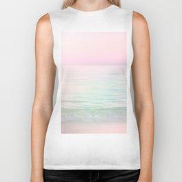 Dreamy Pastel Seascape #buyart #pastelvibes #Society6 Biker Tank