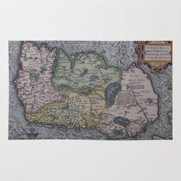 Vintage Map of Ireland (1592) Rug