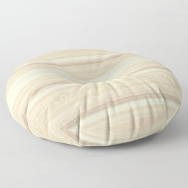 Blonde Wood Grain / Paneling (horizontal stripes) Floor Pillow