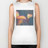 leaf Biker Tanks featuring Leaf by Dora Birgis