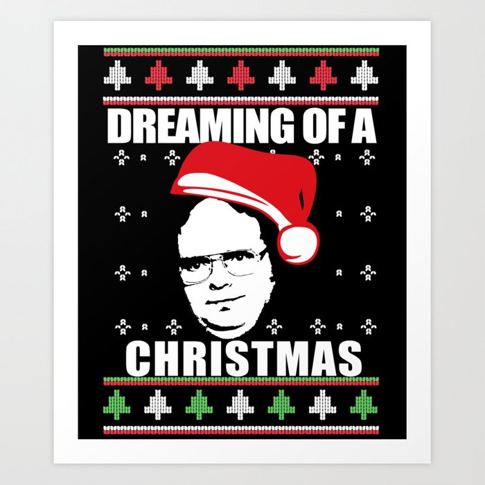 Dreaming Of A Dwight Christmas Ugly Xmas Sweater The Office Art