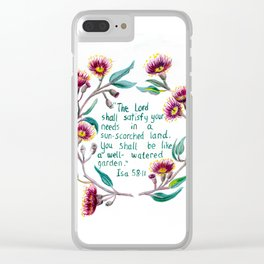 Isaiah 58:11 Clear iPhone Case