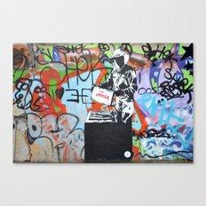 Imker graffiti Canvas Print