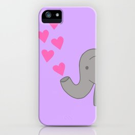 Lovely Love Elephant iPhone Case