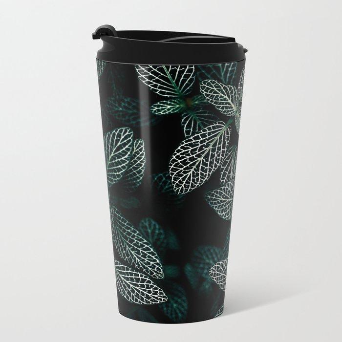Dark Leaves 3 Metal Travel Mug