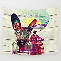 french Wall Tapestries featuring FRENCH by DON'T NEED NO SAMURAI