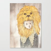 luna lovegood Canvas Prints featuring Luna Lovegood by Natasha Gardos
