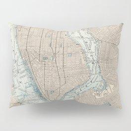 Vintage Map of New York City (1893) Pillow Sham