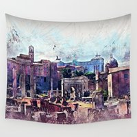 rome Wall Tapestries featuring Rome by jbjart