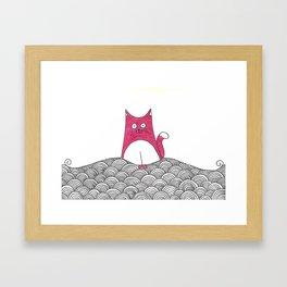 Tabs Cat Framed Art Print