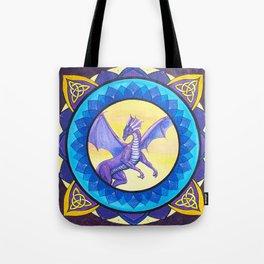 The Dragon Guide - celtic knot mandala Tote Bag