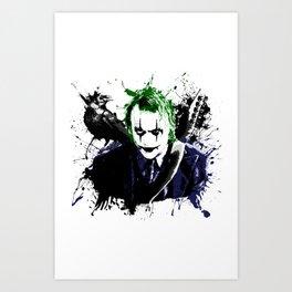 The Crow / Joker Mashup Art Print
