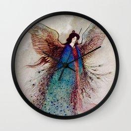 """Moon Maiden"" Fairy Art by Warwick Goble Wall Clock"