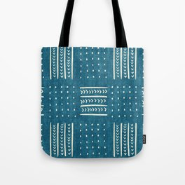 Mud Cloth Patchwork in Teal Tote Bag