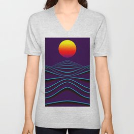 sunset path Unisex V-Neck