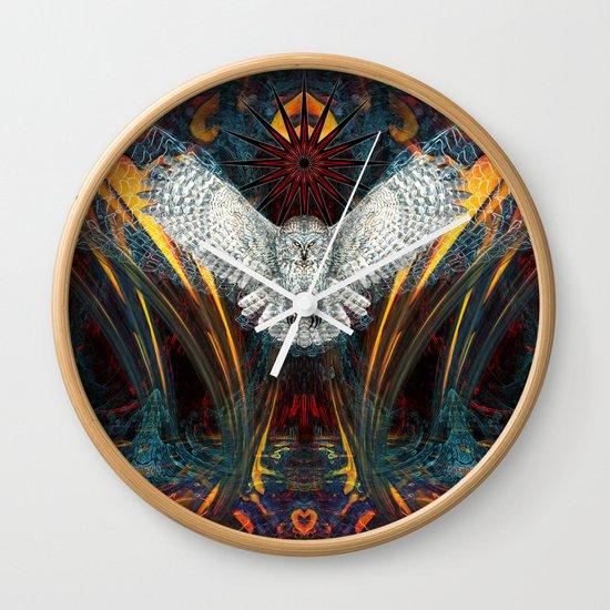 The Great Grey Owl Wall Clock