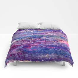 Psycho - Stream of Consciousness in Lively Color Flow by annmariescreations Comforters