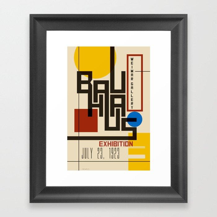 Bauhaus Poster I Gerahmter Kunstdruck