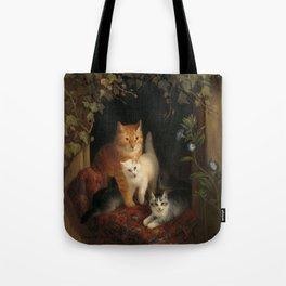 Cat with Kittens, Henriëtte Ronner, 1844 Tote Bag