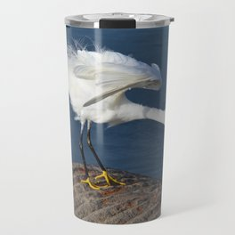 the egret dance Travel Mug