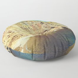 The Rock in the Sea Floor Pillow
