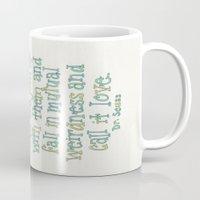 dr seuss Mugs featuring Dr. Seuss by Emilie Darlington