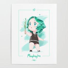 Fan Art Of Land Of The Lustrous - Phosphophyllite Poster