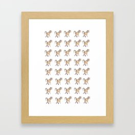 Unicorn pattern Framed Art Print
