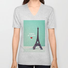 Paris Je T'aime Unisex V-Neck
