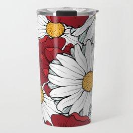 Beautiful flowers seamless pattern Travel Mug