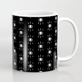 Eye Pattern in Black Coffee Mug