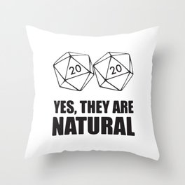 Yes They Are Natural Throw Pillow