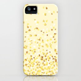 Floating Confetti - Yellow and Gold iPhone Case