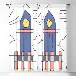Rocket Ship Launch Blackout Curtain
