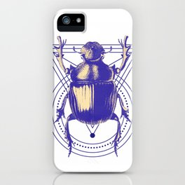 Beetle and geometric iPhone Case