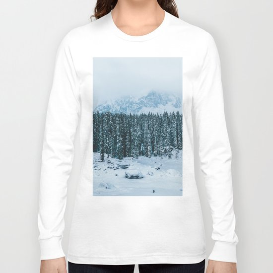 Blue and White - Landscape Photography Long Sleeve T-shirt