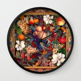 Vintage Fruit Pattern VII Wall Clock