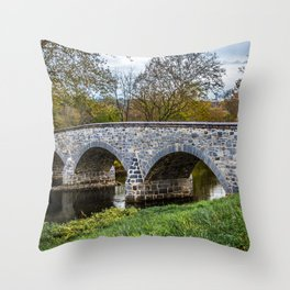 Lower Bridge Throw Pillow