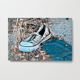 Left Footed Metal Print