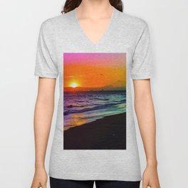 Rainbow Sunset Unisex V-Neck