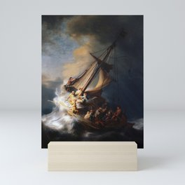 The Storm on the Sea of Galilee, Rembrandt Mini Art Print