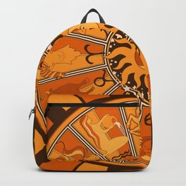 Harley and J Zodiac Orange Backpack