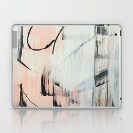 Sweet Tart: a minimal abstract mixed-media piece in pink black and white by Alyssa Hamilton Art Laptop & iPad Skin