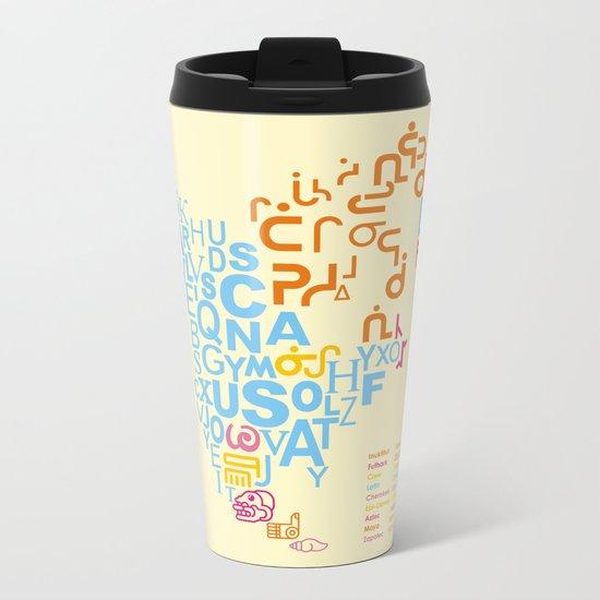 North America ~ Writing Sistems Metal Travel Mug