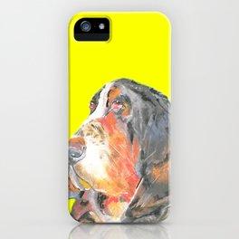 Basset Hound , Jiri Bures original art and design iPhone Case