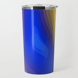 Blue and yellow Travel Mug