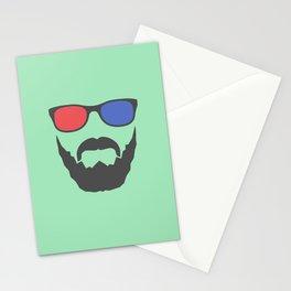 3D beard Stationery Cards