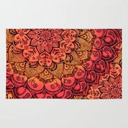 Ruby & Garnet Doodle Rug